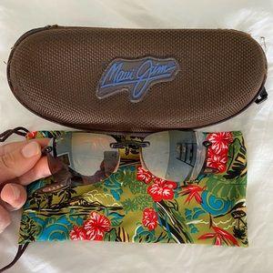 EUC Maui Jim sport rimless sunglasses small frame